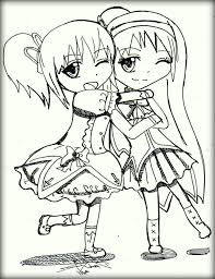 Two Best Friends Coloring Pages 1