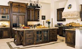 Image Of Rustic Kitchen Cabinets Color
