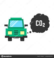 Big Green Truck Emits Carbon Dioxide — Stock Vector © HoldenKolf ...