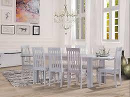 esstisch holz pinie massiv 300x100 8 stühle ansteckplatten