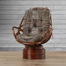Loon Peak Sandstone Rattan Swivel Rocker & Reviews | Wayfair