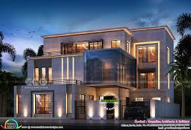 100 Home Design Contemporary 7 Bedroom Contemporary Home Design Plan Kerala Home Design