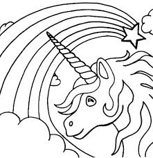 Rainbow Coloring Pages Free Printable Page
