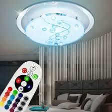 9 watt rgb led decken leuchte spiegel farbwechsel beleuchtung glas le dimmer