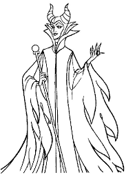 Disney Villains Coloring Pages Maleficent Download Collection Latest Free In
