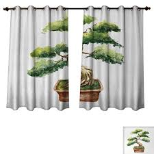 Amazoncom Anzhouqux Zen Garden Bedroom Thermal Blackout Curtains