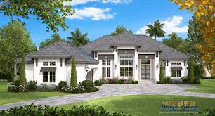 This Single Story Island Inspired West Indies House Plan Provides Just Over 4000 Square Feet Of Living Space With Four Bedrooms Full Baths