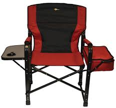 Timber Ridge Folding Lounge Chair by Directors Chair With Side Table Cooler