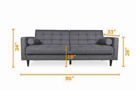 100 Sofa Modern Furniture Bennet Sleeper Seaside Grey