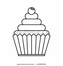 Smart Inspiration Cupcake Outline Stock Royalty Free Vectors Template Clip Art Printable Vector Drawing Tattoo