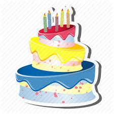 birthdaycake cake candles celebration party three layer cake three tear 491