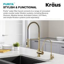 Kitchen Faucet Water Kraus Purita Spot Free Kitchen Faucet Water Filter Antique Chagne Bronze