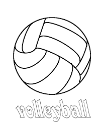 Volleyball Coloring Pages 28325