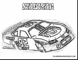 Fantastic Nascar Race Car Coloring Pages With And Free Printable
