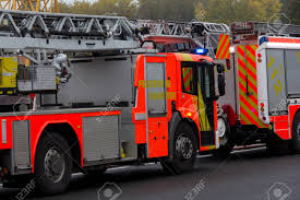 100 German Trucks HANNOVER GERMANY OCTOBER 25 2016 Firefighting