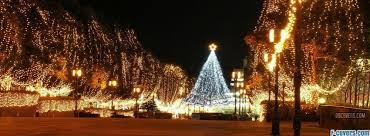 Christmas Tree In The City Facebook Cover