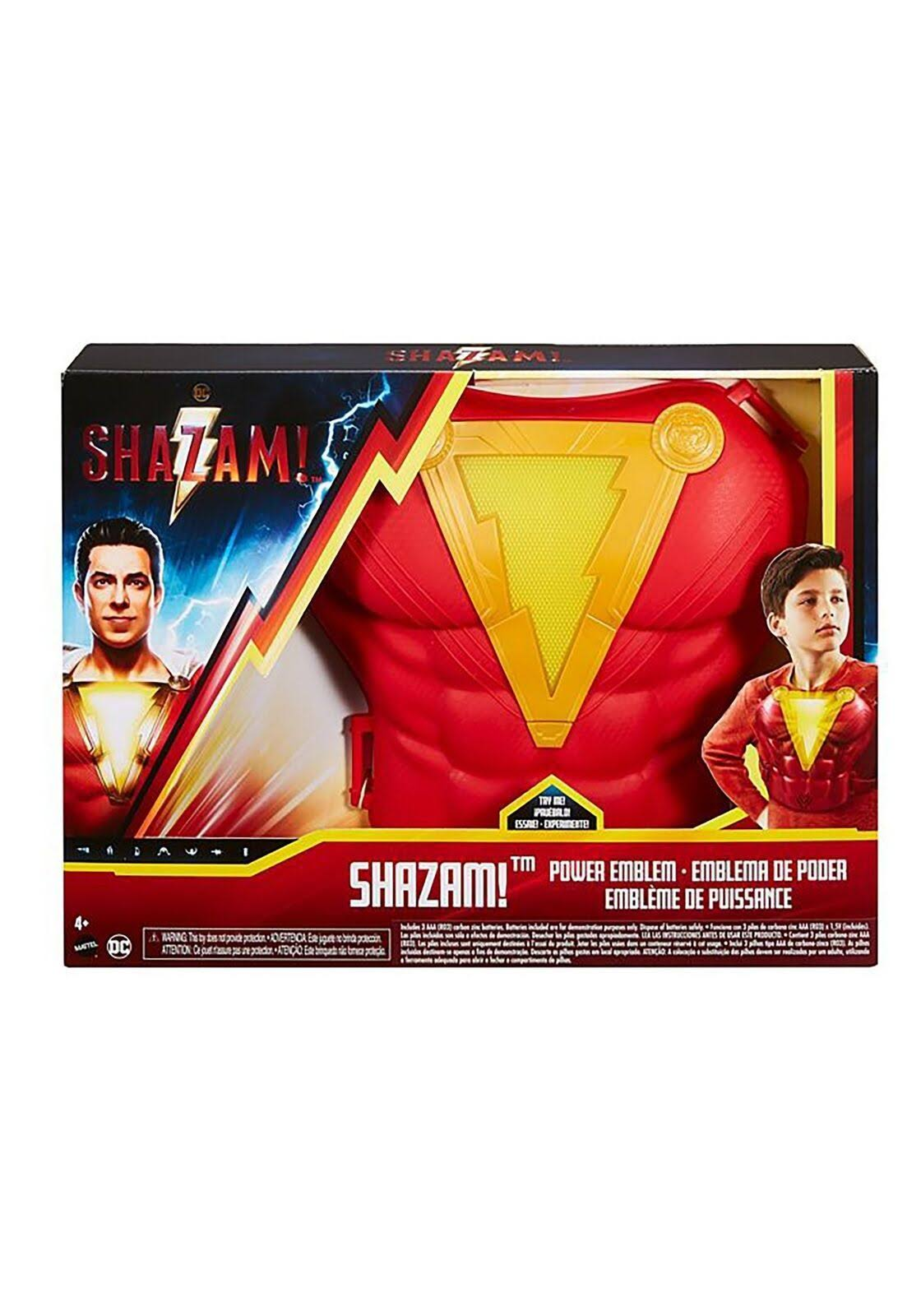 DC Comics Shazam Power Emblem Chest Plate Role Play Electronic Light Up Toy