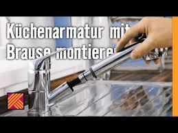Kテシche Wasserhahn Mit Brause Küchenarmatur Mit Brause Montieren Hornbach