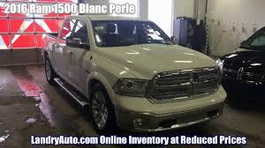 2016 Ram 1500 Longhorn Pearl White For Sale - Montreal Ram Dealer ...