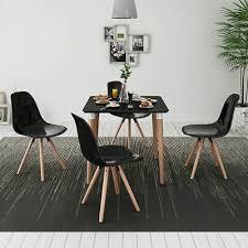 vidaxl 5 tlg essgruppe tischset esszimmer stühle sitzgruppe