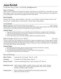 Educational Resume Examples Education Counselor Example Special