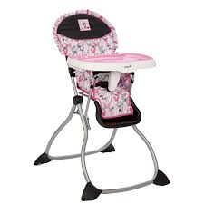 Cosco Flat Folding High Chair by This Pink Grey And Black Minnie Mouse High Chair Is As Simple To