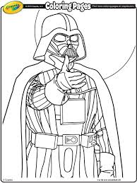 Free Star Wars Crayola Coloring Pages Darth Vader