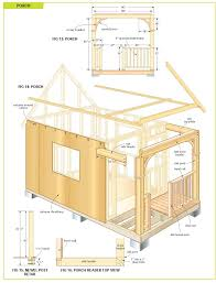 12x20 Storage Shed Material List by Free Wood Cabin Plans Free Step By Step Shed Plans