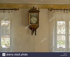 Old Clock On Wall Interior View In An House With Original Historic The Franconian Open Air Museum