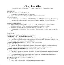 Computer Science Resume Sample Template Of