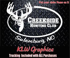 Custom Hunting Club * Vinyl Decal Sticker Diesel Deer Car Truck 4x4 ... Camouflage Wraps Hunting Camo Vehicle Deer Hoof Print Decals Truck Decal Official Bow Life Bowhunting Archery Stickers And Wild Turkey Hunter Bird Car Duck Sticker 4x4 Camo Max Grass Truck Decal For F150 F Firefighter Trd Tundra Tacoma Red Line Fire 2 Personalized Custom In Loving Memory Of Dad Gone Dog Etsy Product Wolf Eayes Tailgate Wrap Pickup Realtree Trucks Elkaholic Elk Van Club Buck