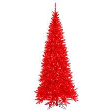 Vickerman 10Ft Red 2260 Tips Christmas Tree 900 Mini Lights