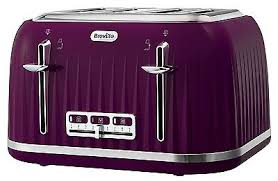 Breville Impressions VTT634 Toaster Purple 4 Slice New
