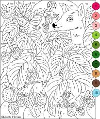 Free Printable Coloring Color By Number Pages For Adults 18 Seasonal Colouring With