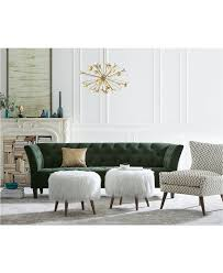 Macys Dining Room Table Pads by Arielle Tufted Fabric Apartment Sofa Only At Macy U0027s Macys Com
