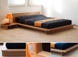 oregon oak bed a dramatic low platform bed the mattress sits