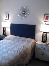 Blue Velvet King Headboard by Bedroom Astounding Image Of Slate Blue Bedroom Decoration Using