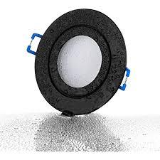 lambado premium led spots dimmbar für badezimmer in schwarz