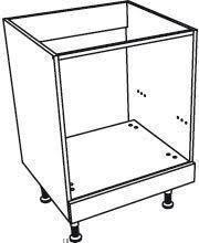caisson de cuisine meuble de cuisine accessoires bas four façade inox et caisson gris