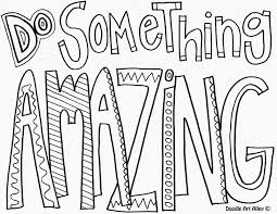 Quote Coloring Pages Cool Free Printable Inspirational Inside