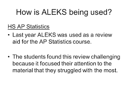 How Is ALEKS Being Used