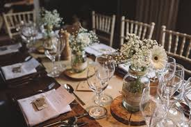 Rustic Country Wedding Table Decorations