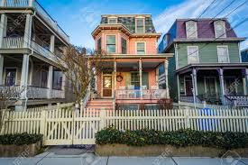 100 Victorian Property Beautiful Houses In Cape May New Jersey Stock Photo