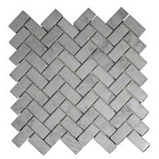 interior inspiring white marble herringbone tile layout design as
