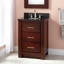 Narrow Depth Bathroom Vanity Canada by Narrow Depth Vanities With Varnished Dark Walnut Wood Cabinet