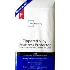 mainstays waterproof vinyl zippered mattress protector walmart com