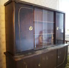 50er jahre wohnzimmerschrank wohnzimmerbuffet buffet vitrine