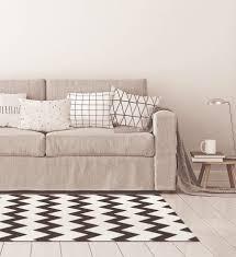 harren skandinavischer teppich wohnzimmer zickzack weiß schwarz 160 x 230 cm esa home