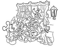 Pictures Disney Christmas Coloring Pages