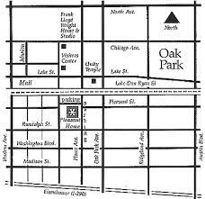 Detailed Map to George Maher s Pleasant Home Oak Park Illinois